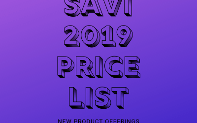 2019 SAVI Price List + New Products