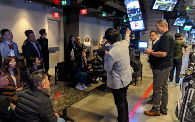 SAVI Controls hosts members of the foreign press during CES at Topgolf Las Vegas